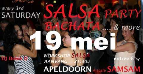 Saturday Salsa Party - 19 mei in Artcafé SamSam, Apeldoorn